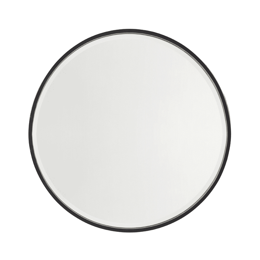 Nero Round Salon Mirror