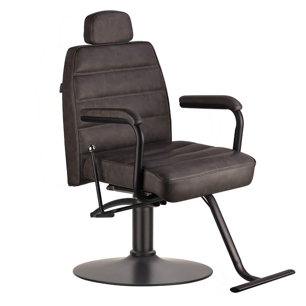 Naomi II Reclining Salon Chair Textured Black